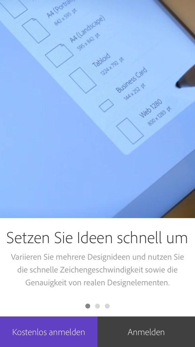 Comp Begrüßungsbildschirm Screenshot