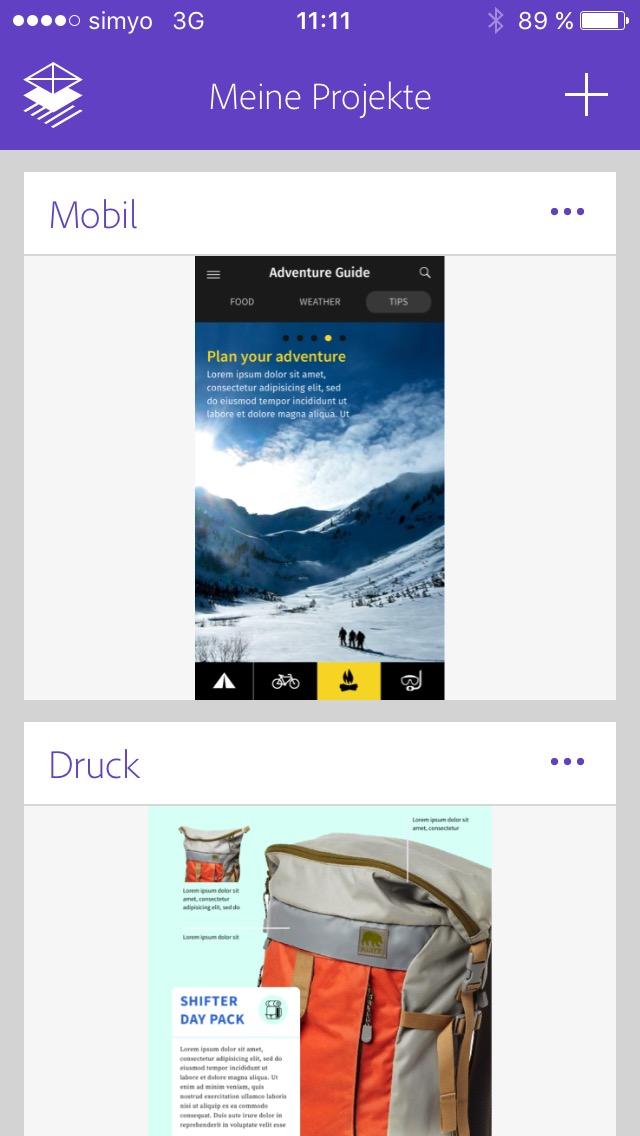 Comp Beispielprojekte Screenshot