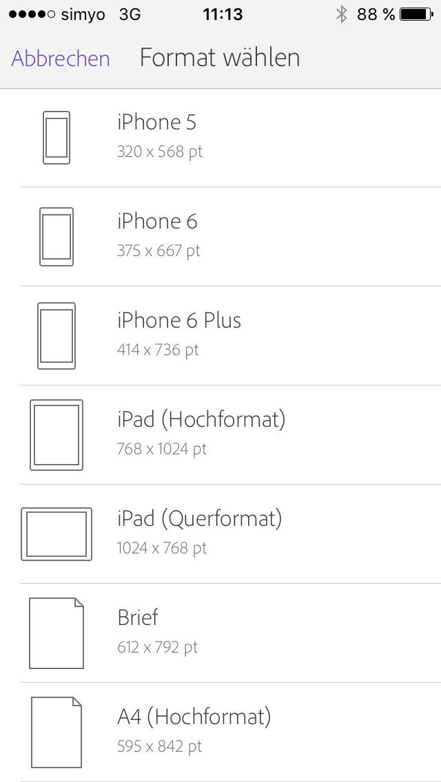 Comp Formatvorlagen Screenshot