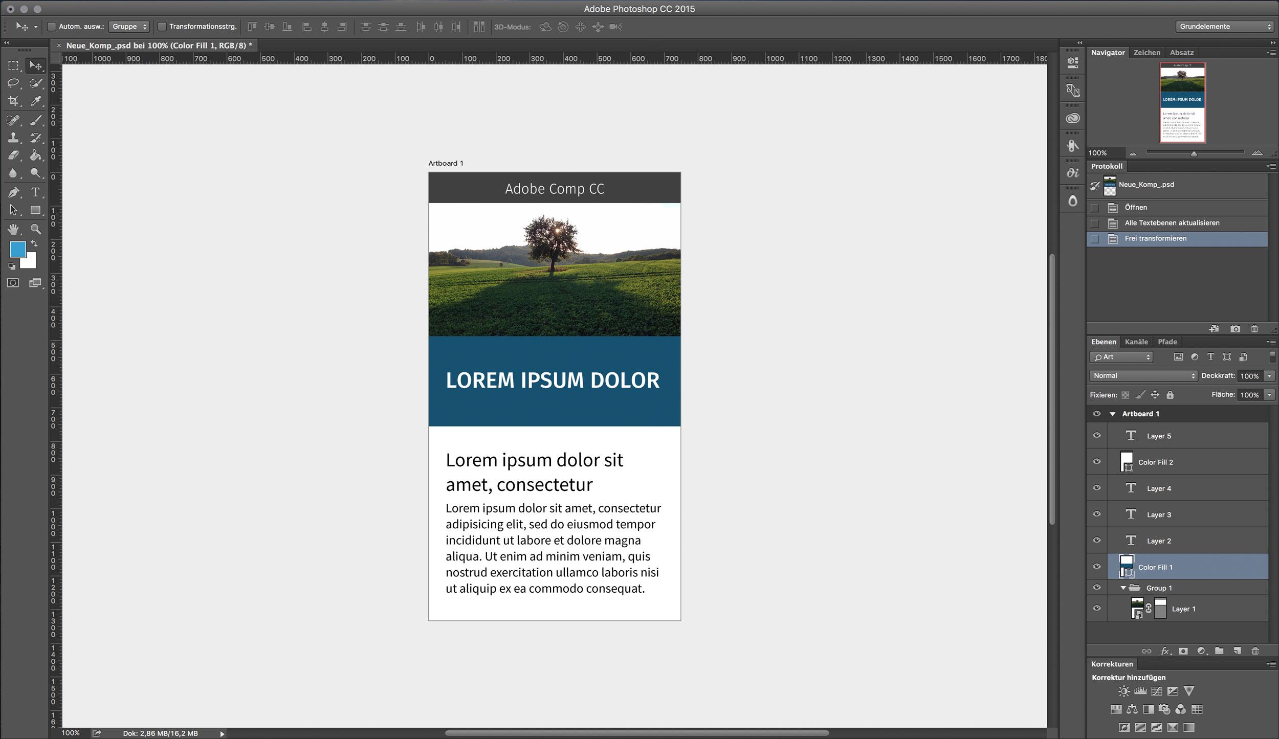 Photoshop Artboard Screenshot