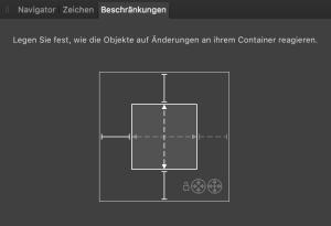 Constraints panel