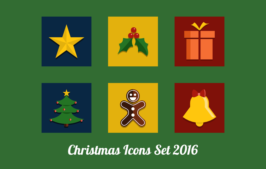 BitFriends Christmas Icon Set 2016